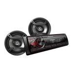 Pioneer Combo radio 1din sin cd bluetooth + 2 parlantes